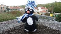 Amigurumi de pingüino a crochet o ganchillo