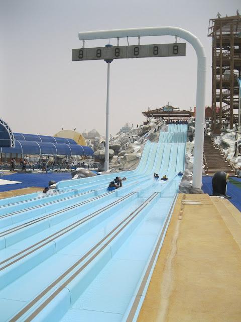Mount Iceberg Slides at Ice Land Water Park Ras Al Khaimah