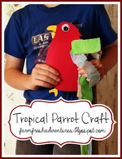 Tropical Parrot Craft by Farm Fresh Adventures