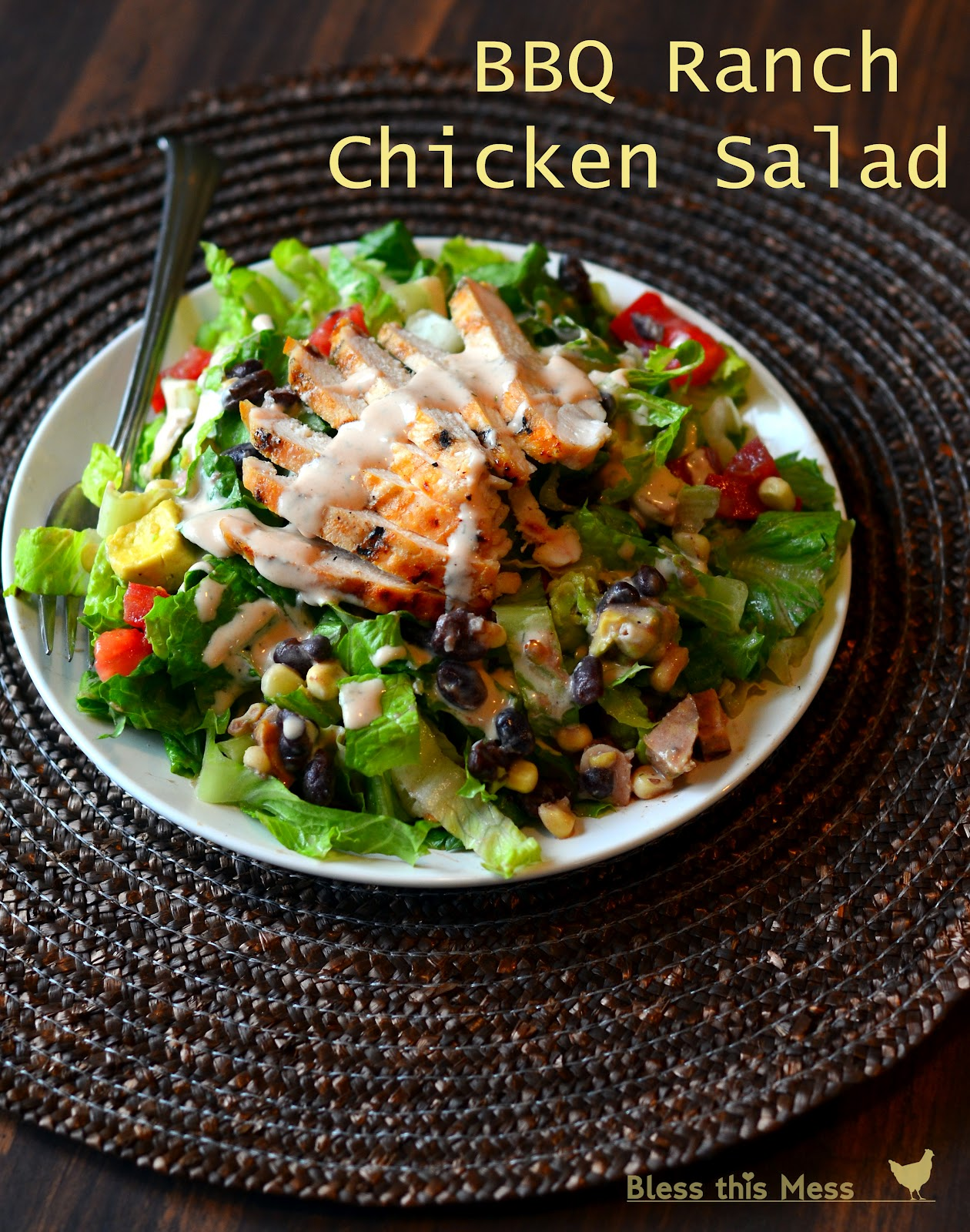 Barbecue Ranch Chicken Salad Bless This Mess