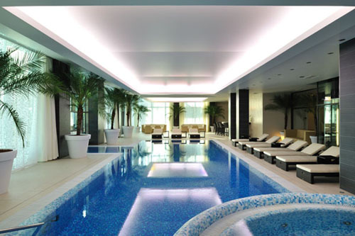 Stunning neoclassical palace hotel architecture design for Pool design manufaktur ug rottenburg