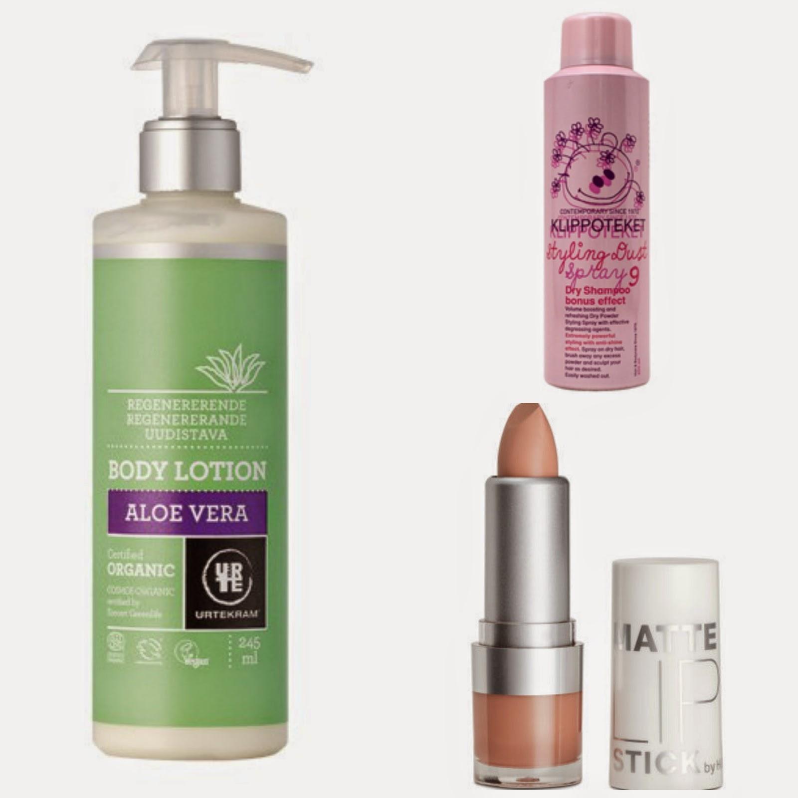 Urtekram, Klippoteket, H&M, Billig kosmetik, Bra produkter