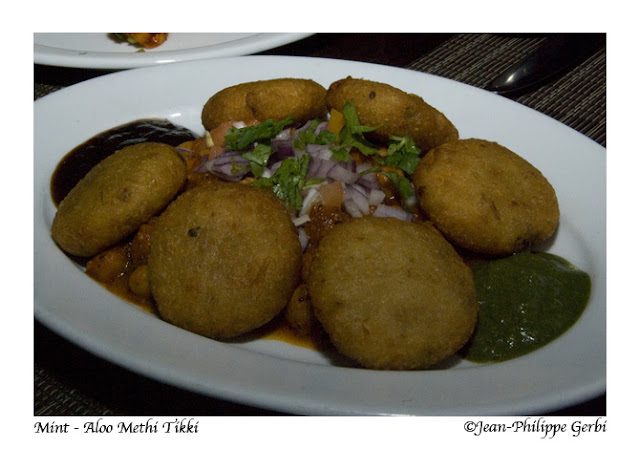 Image of Aloo Methi Tikki at Mint Indian restaurant in NYC, New York