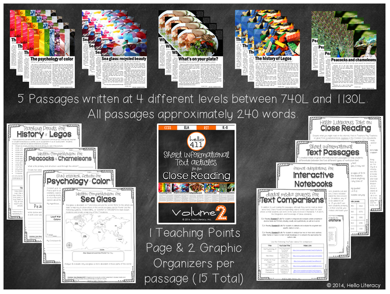 http://www.teacherspayteachers.com/Product/Short-Text-for-Teaching-Text-Structure-Vol2-1259341