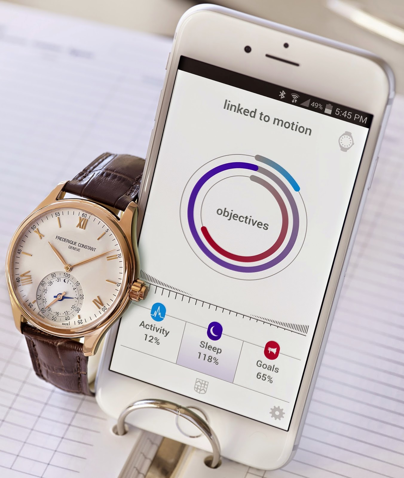 Montre Frédérique Constant The Swiss Horological Smartwatch et son application mobile