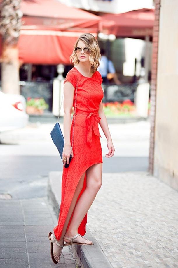 asimetrik elbise