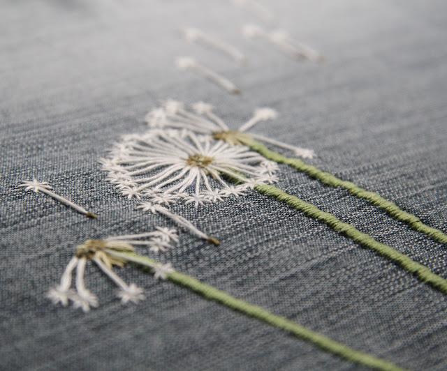 Вышивка одуванчик 28