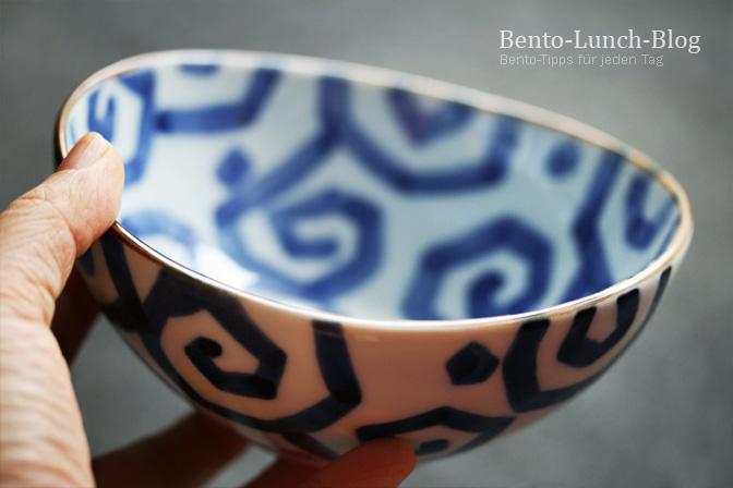 Bento Lunch Blog JapanGeschirr Rakugaki Schüssel Blau  ~ Geschirr Japanisch