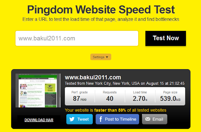 Uji Kepantasan Loading Blog Atau Website