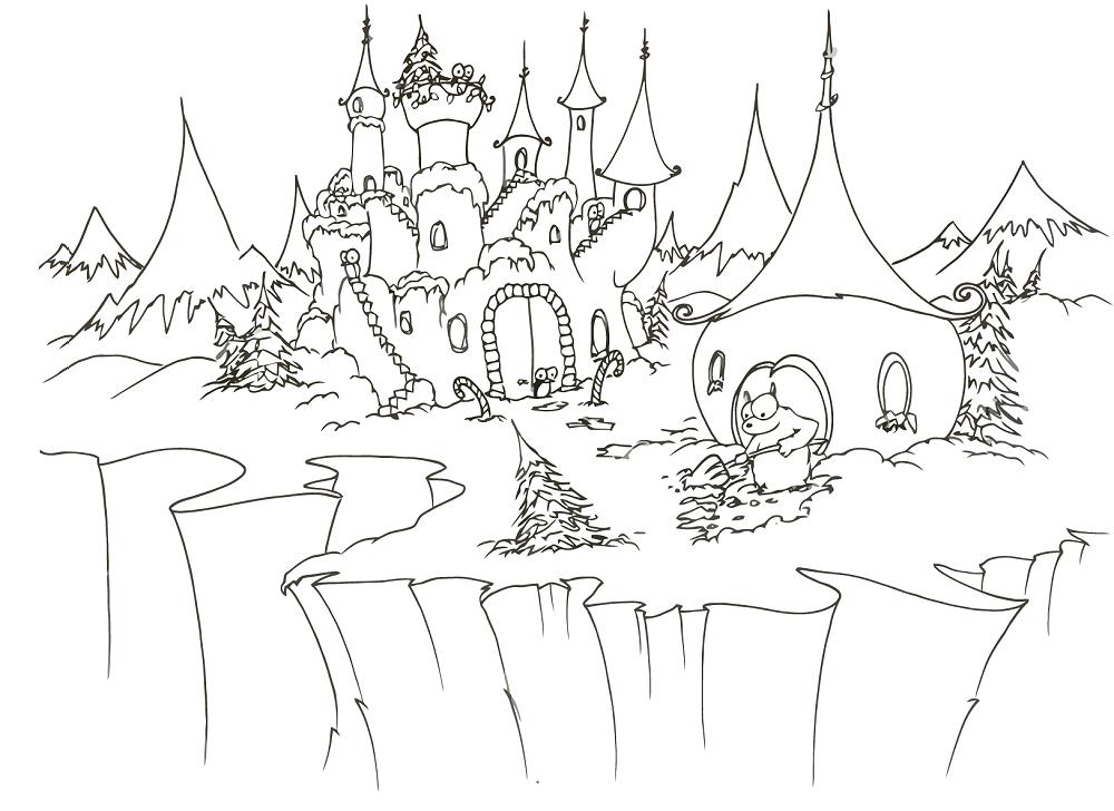 Disney Princess Castle Coloring Pages To Kids Princess Castle Coloring Pages