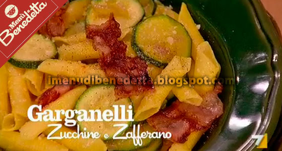 Garganelli Zucchine e Zafferano con Bacon Croccante
