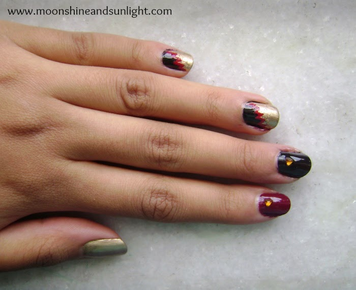 Nail art inspired By a Monisha Jaising gown