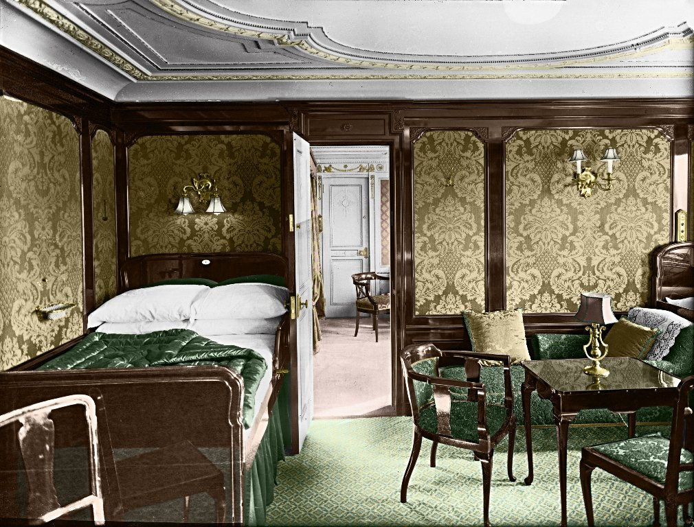 Titanic in color photos of one of the largest passenger Who was on the titanic in first class