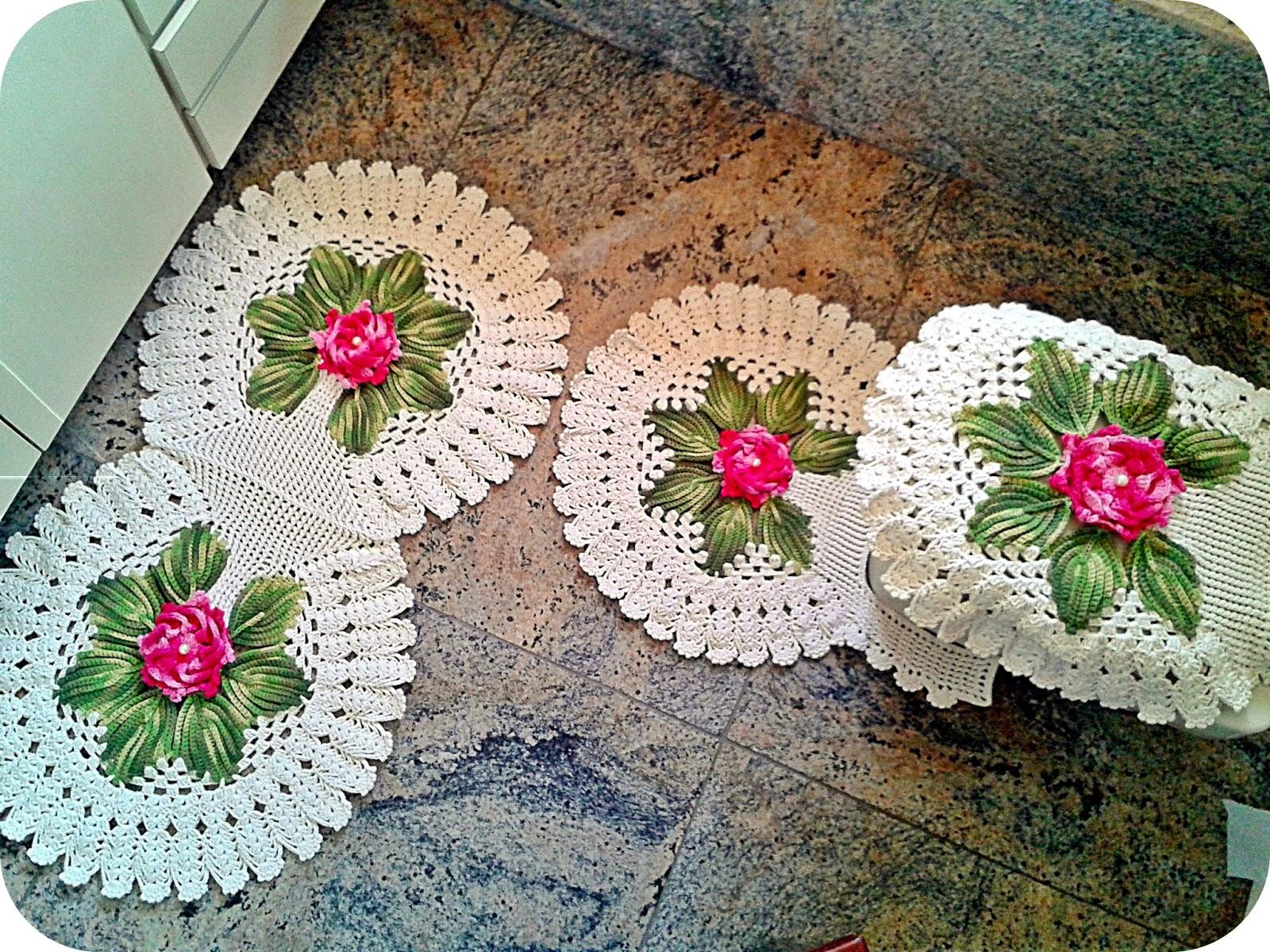 Fabuloso Luciana Ponzo Criações em Crochê: P.A.P Tapete Garden AJ79