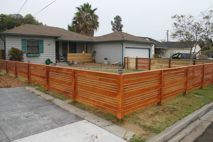 Look what jeff did looking back at what jeff built for Small front yard ideas with fence