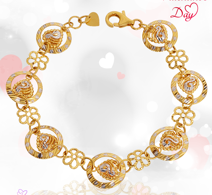grt jewels valentines day jewellery bracelets in gold