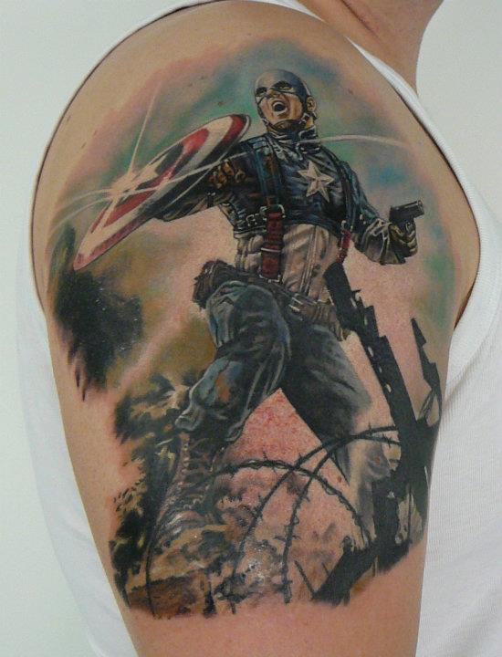 Tatuagem Capitão América