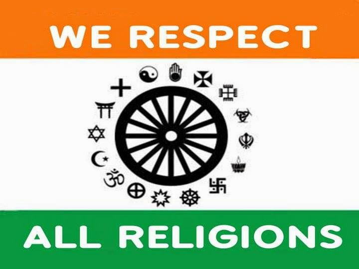 We Proud Indians Respect all Religions