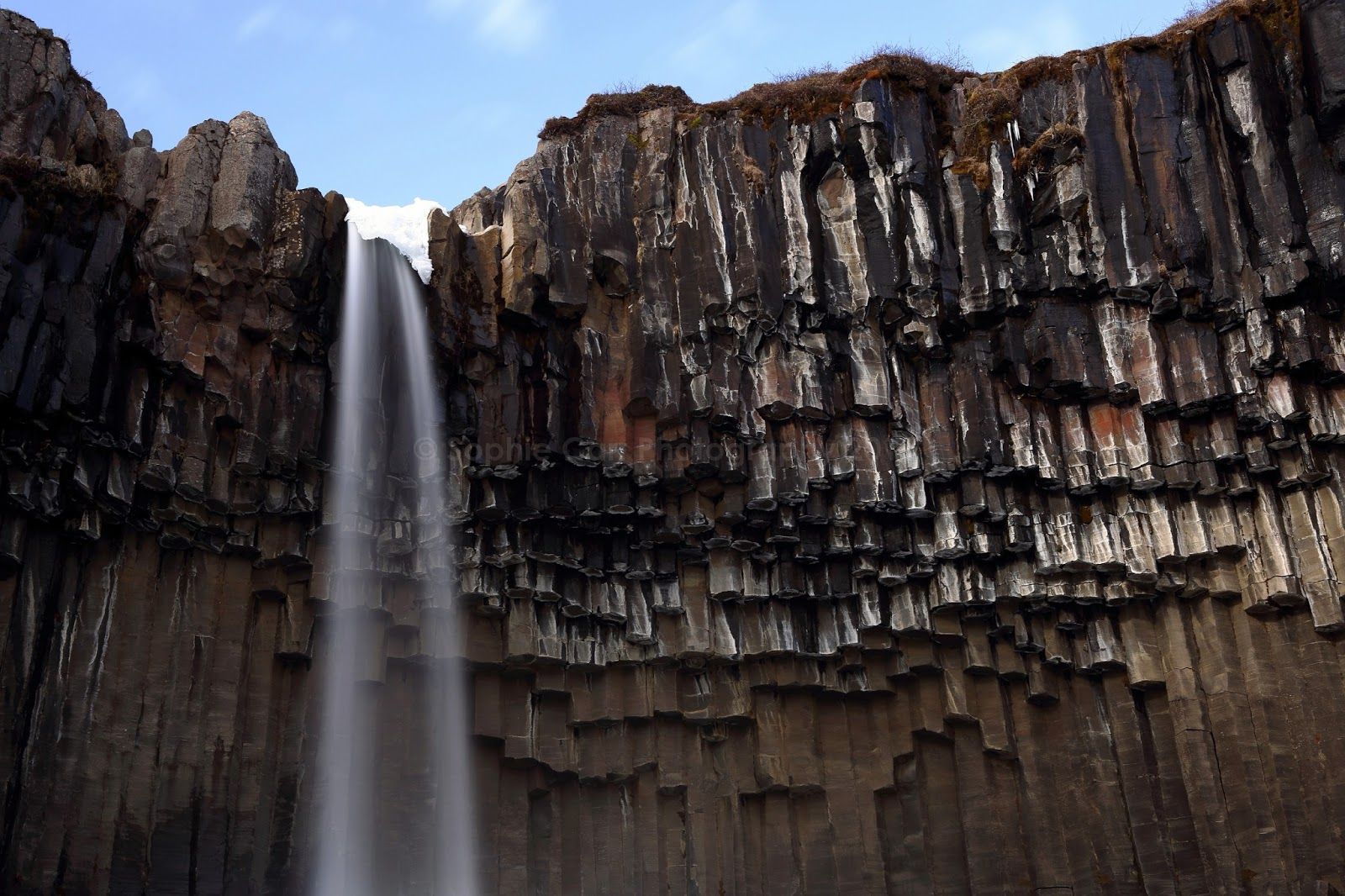 Basalt Columns Iceland : Sophie carr s photo endless basalt columns in