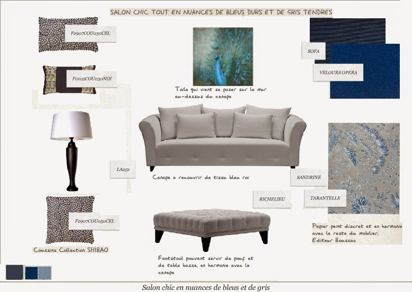salon gris bleu deco salon bleu gris monde surprenant. Black Bedroom Furniture Sets. Home Design Ideas