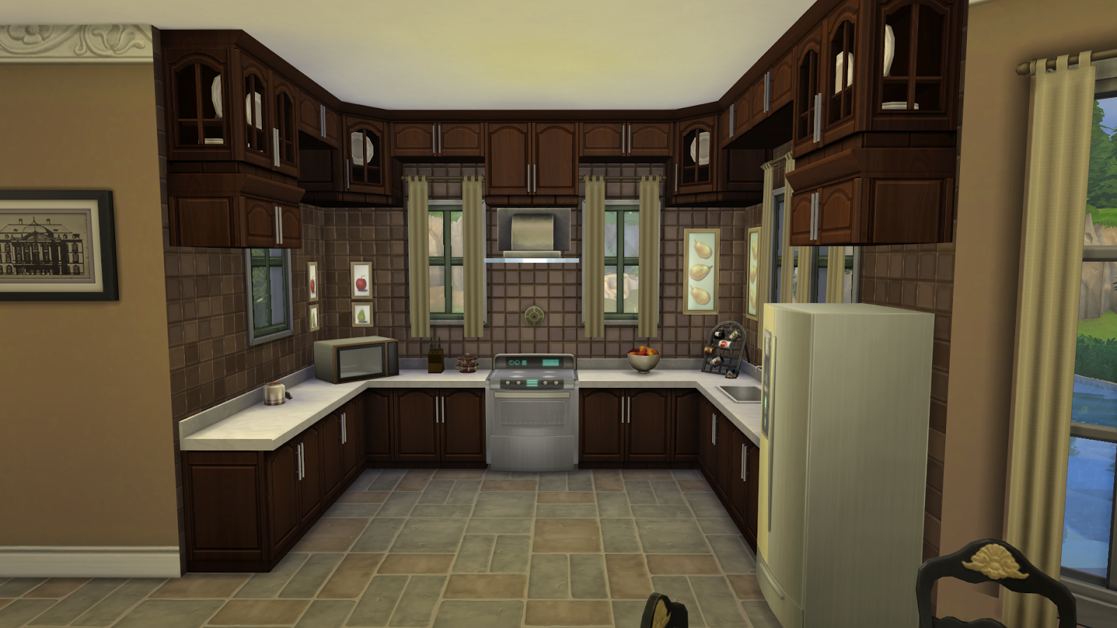 Lacey loves sims hennessey house for Sims 3 dining room ideas