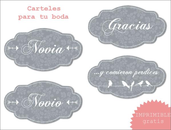 Boda Bella: Imprimibles para tu boda - ¡en español!