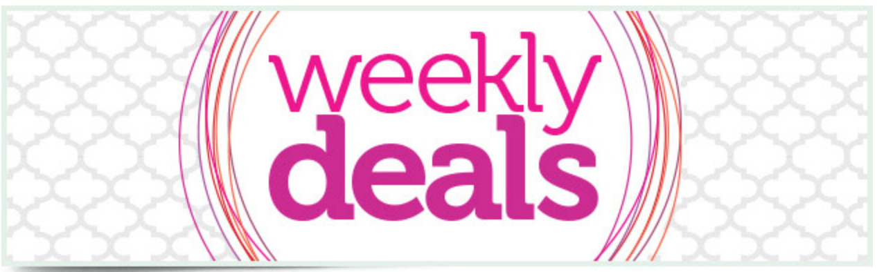 New Weekly Deals Each Wednesday