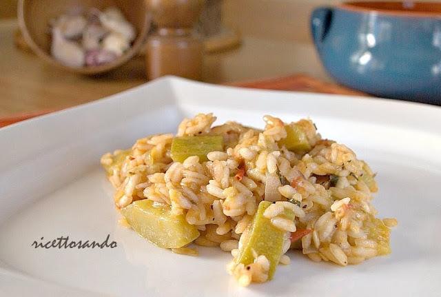 Ricetta di Risotto con zucchine o cucuzze