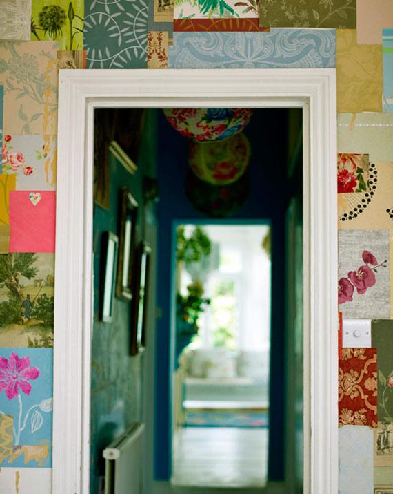 casa grande - de encher os olhos - decoração colorida - patchwork na parede