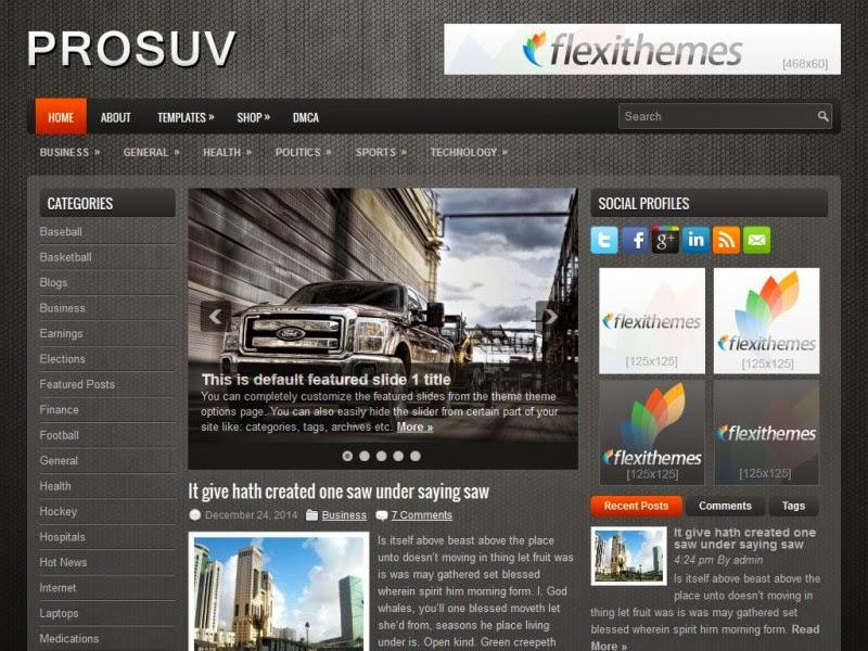 ProSUV - Free Wordpress Theme
