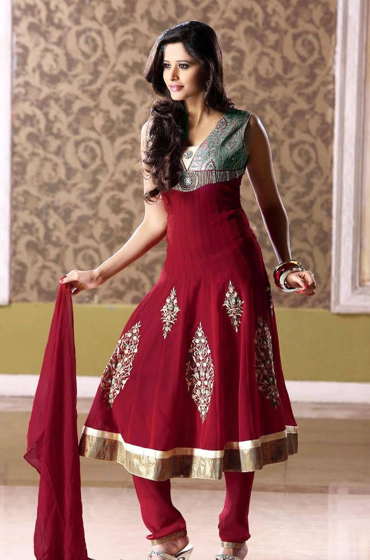 Latest churidar stylish froks naina jee bridal dresess beauty salon for How to design salwar kameez at home