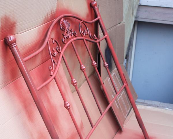 Spray Painting Headboard With Rustoleum