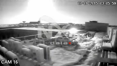 Fireball Turns Night Into Day Over Bucharest, Romania 1-7-15