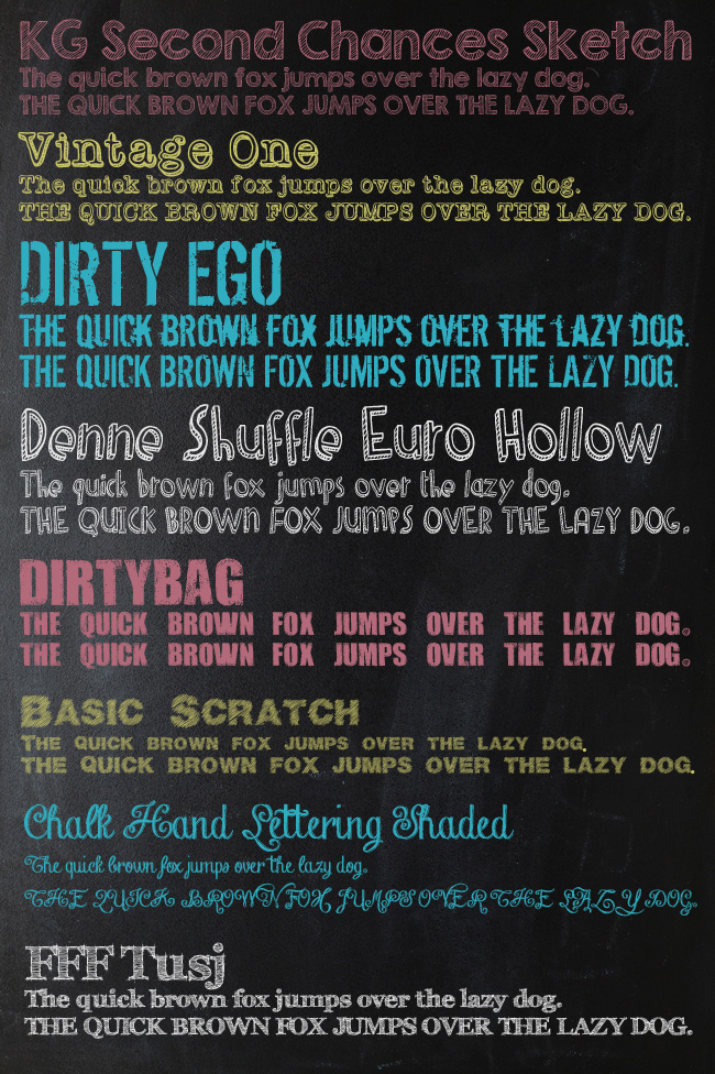 Chalk Font List One