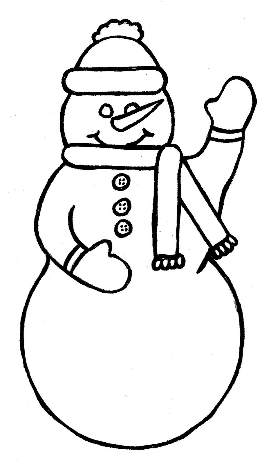 How to draw snowman template for Snowman templates free