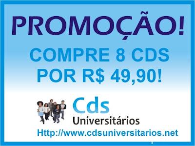 Promoção 8 cds por R$ 49,90. Frete grátis!