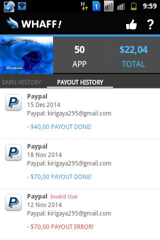 Cara Mencairkan Dollar Whaff dengan PayPal