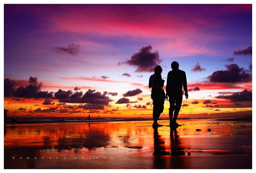 Hình ảnh đẹp lãng mạn về tình yêu trong hoàng hôn
