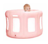 Room to Grow Inflatable Play Yard Pink