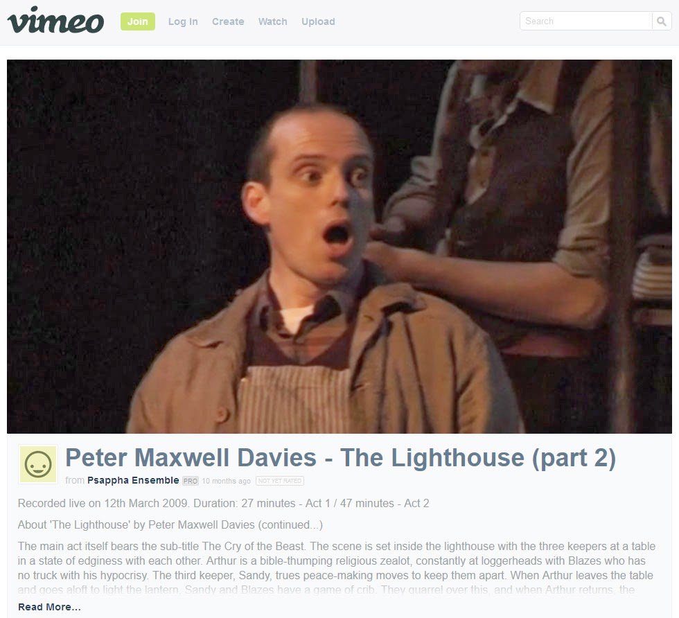 Peter Maxwell Davies The Lighthouse Part 2