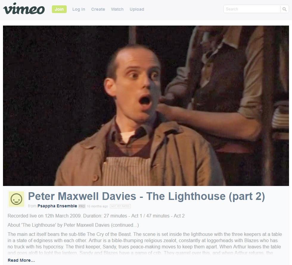 Peter Maxwell Davies The Lighthouse Part 2