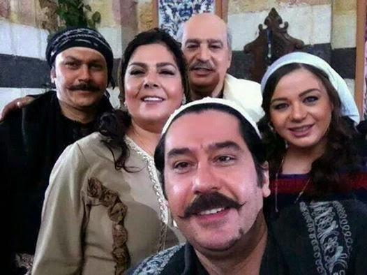 أبو عصام ومعتز وعصام في صور كواليس مسلسل باب الحارة 6