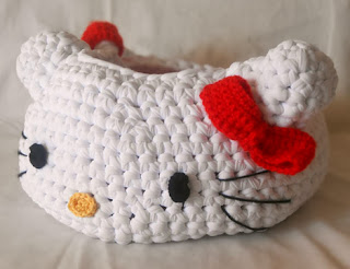 PATRON GRATIS CESTA HELLO KITTY DE CROCHET 3366