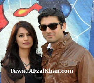 Fawad Khan and wife
