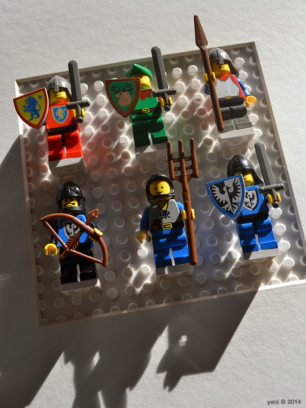 lego spaceman artwork - trying some lego knights