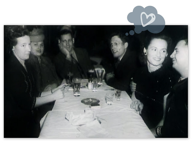 Valentines Day Date Vintage Photograph Dinner Restaurant WWII