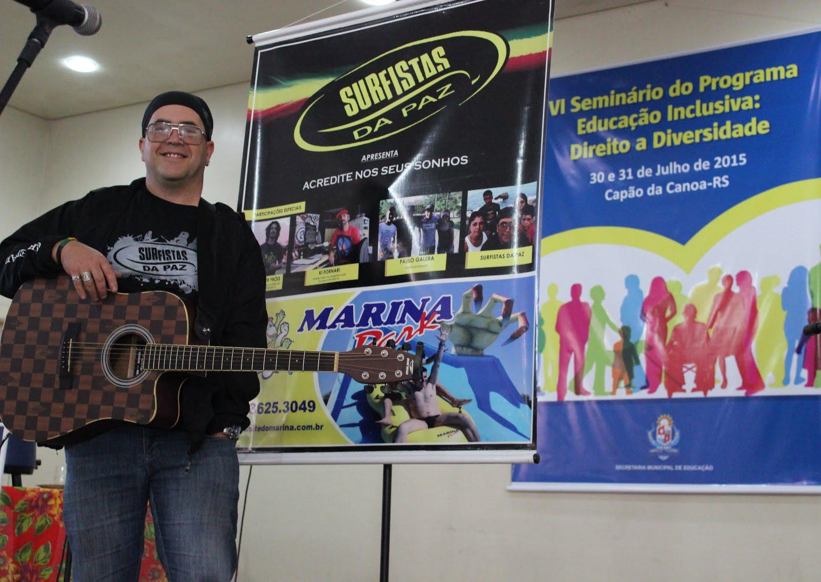 João Brother no VI Seminário do Programa Educação Inclusiva: Direito a Diversidade, em Capão.