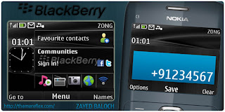BlackBerry Black C3 by zb Download Tema Nokia C3 Gratis