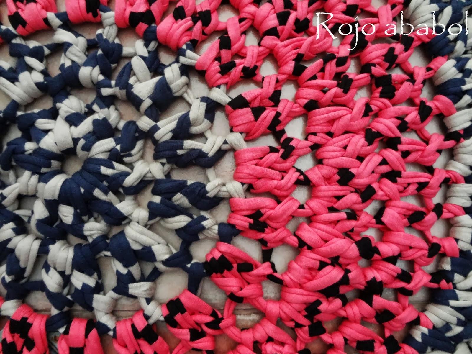 Rojo ababol alfombra de trapillo for Que significa alfombra