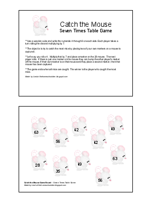 Catch the Mouse Game -- Practicing the Six and Seven Times Tables